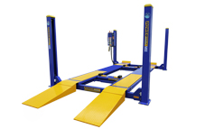 Four post twin rolling jacks hoist for sale